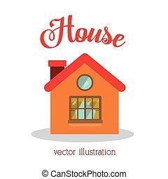 House design, vector illustration.