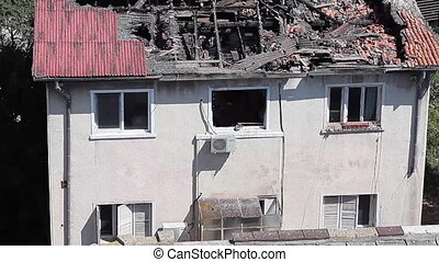 House Destroyed By Arson - House destroyed by arson with the...