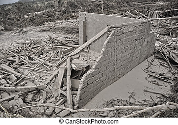 House Destroyed by Disaster