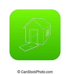 House destroyed icon green