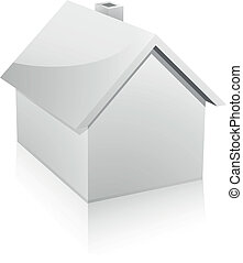 detailed 3d illustration of a small house