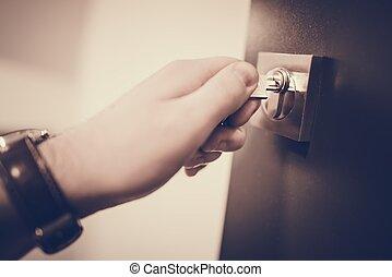 House Door Security Concept