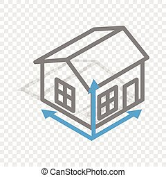 House drawing isometric icon