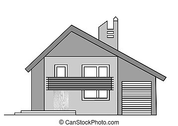 house drawing on white background,