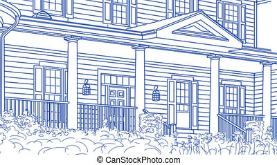House Drawing to Finished Home - Drawing of Beautiful House...