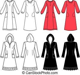House dress, nightdress