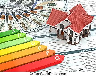 House energy efficiency concept.
