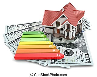 House energy efficiency concept. Real estate, money and ...