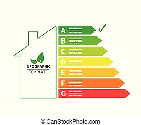 House energy efficiency infographic template