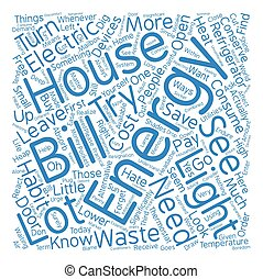 house energy ll Word Cloud Concept Text Background