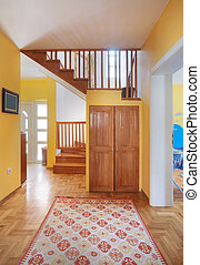 House entrance hall - Entrance hall of a modern house, view ...
