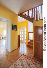 House entrance hall - Entrance hall of a modern house, view...