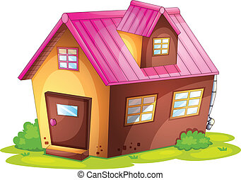 house - illustration of a house on a white background