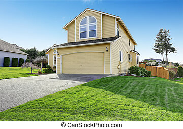 House exnterior with garage. View from driveway