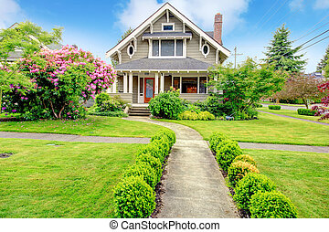 House exterior. Entrance column porch