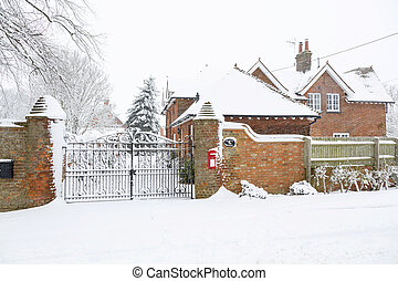 House exterior in winter
