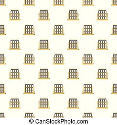 House exterior pattern seamless vector