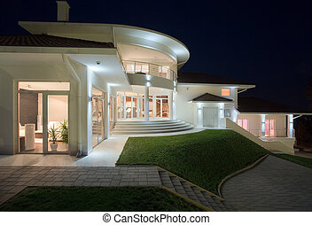 House Exterior - Modern house exterior, large and expensive...