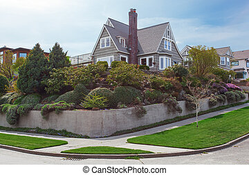 House exterior with beautiful curb appeal - House exterior ...