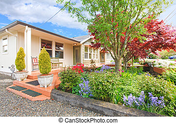 House exterior with curb appeal - VIew of entrance porch...