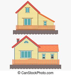 House facade vector
