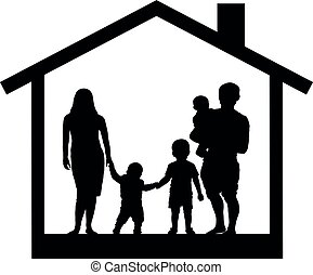 House family silhouette