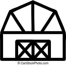 House farm icon vector. Isolated contour symbol illustration