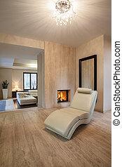 house:, fauteuil, travertin