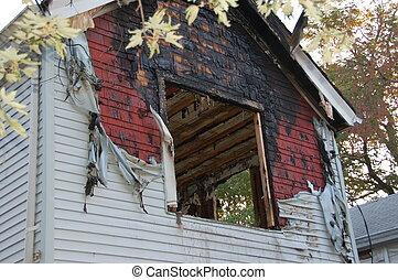 house fire damage