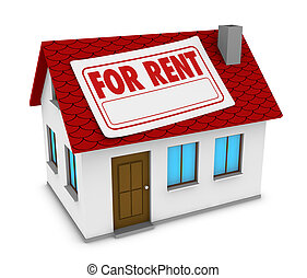 house for rent - one house with a label with the words for...