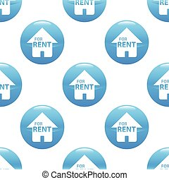 House for rent sign pattern