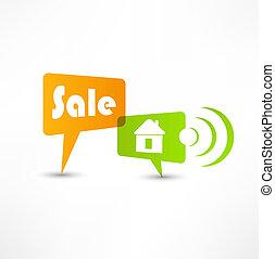House for sale. Concept speech bubbles