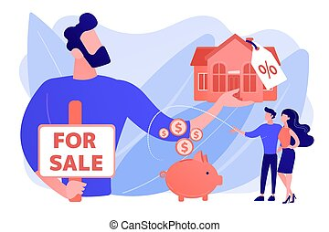 House for sale concept vector illustration.