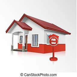 House for sale icon - Vector illustration of House for sale...