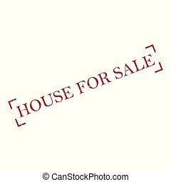 House For Sale rubber stamp vector image