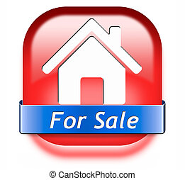house for sale sign - For sale banner, selling a house...