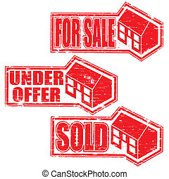 House For Sale Stamps