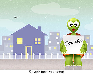house for sale - illustration of house for sale