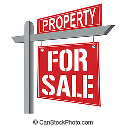 House for sale / vector - Property for sale. Vector file...