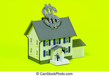 Replica House With Dollar Sign. Part of Series - See Portfolio For Similar Images