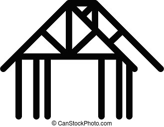 House frame icon, outline style