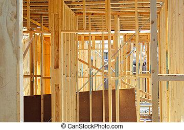 House frame - New house frame under construction