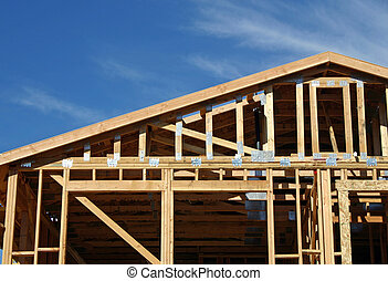 House Framing - A home being framed.