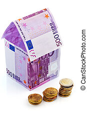 house from € banknotes - a house built with money seem €...