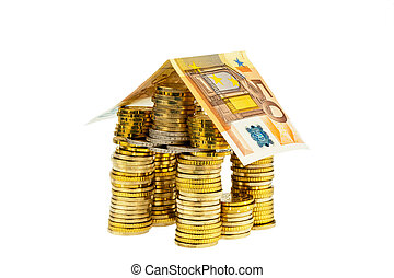 house from € coins from money