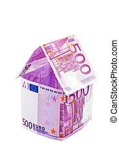 House from € banknotes - A house built with money seem to €...
