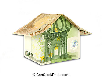 House from banknotes