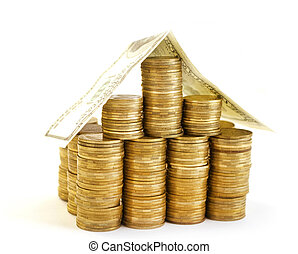 house from coins