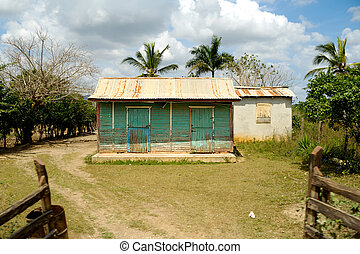 House from Dominican Republic. - Classical caribbean wooden...