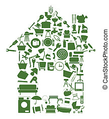 House from subjects - The house from use subjects. A vector...